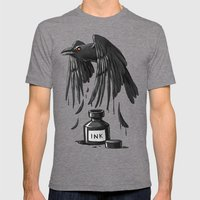 Ink Raven Mens Fitted Tee Tri-Grey SMALL
