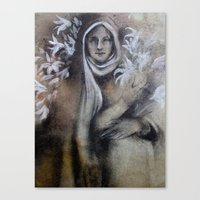 Madonna Of The Lilies Canvas Print