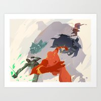 League of Leagues.  Art Print