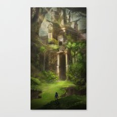 Forest Temple - Large Ve… Canvas Print