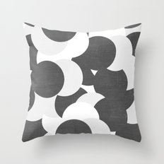 imagine - black and white Throw Pillow