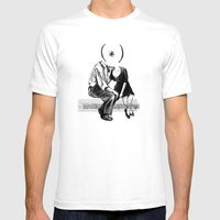 SYNALOEPHA Mens Fitted Tee White SMALL