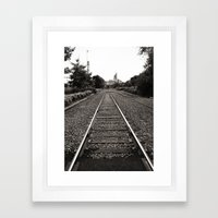 Railroad Tracks Framed Art Print