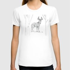 Stag  Womens Fitted Tee White SMALL
