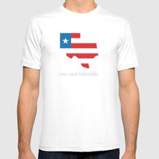 7th Flag of Texas Mens Fitted Tee White SMALL