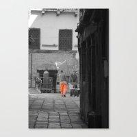 Worker Bw Canvas Print
