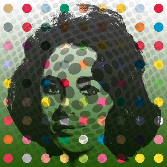 Op Art Liz Taylor With Multi-coloured Dots Art Print