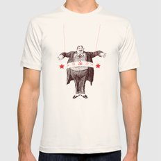 Am I Fat? Mens Fitted Tee Natural SMALL