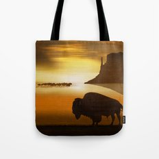 The lonely bison Tote Bag