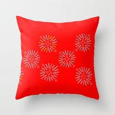 Bursts Orange Throw Pillow