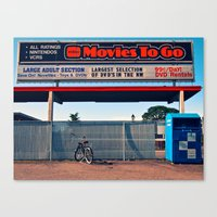 Canvas Print featuring Movie rental flashback by Vorona Photography