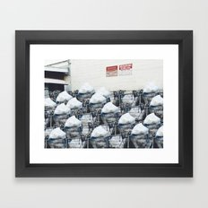 Queue Line Framed Art Print