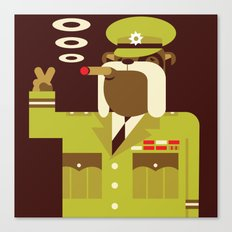 Major Winston Bulldog Canvas Print