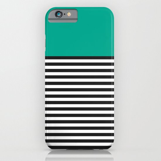 STRIPE COLORBLOCK {EMERALD GREEN} iPhone & iPod Case