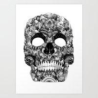 Skull Face Art Print