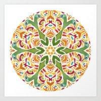 Peacock mandala Art Art Print