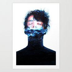 Stille Wasser Sind Tief Art Print