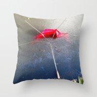 Umbrella Blues 4 Throw Pillow