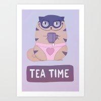 Boggart Tea Time Art Print