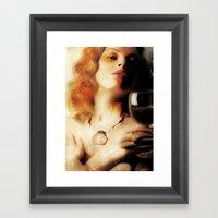 Vin Painting Girl Framed Art Print