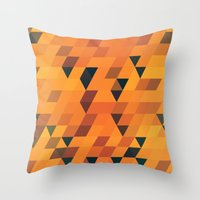 Gold Pattern Throw Pillow