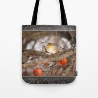 American Goldfinch In Wi… Tote Bag
