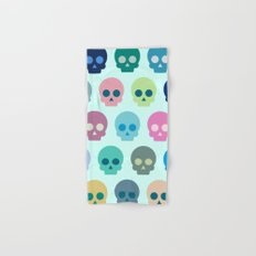 Colorful Skull Cute Pattern Hand & Bath Towel