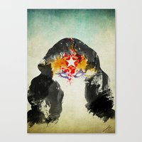 Muscle Girl Canvas Print