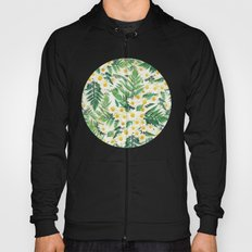 Textured Vintage Daisy and Fern Pattern  Hoody