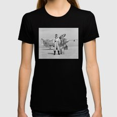 X-24A on Lakebed Womens Fitted Tee Black SMALL