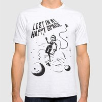 Lost In My Happy Space, grey Mens Fitted Tee Ash Grey SMALL