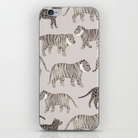 Gray Tigers iPhone & iPod Skin