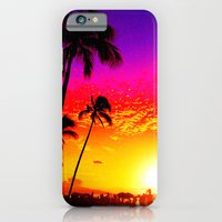 iPhone & iPod Case featuring Sunset on Waikiki by The Digital Weaver