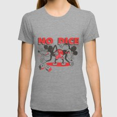 No Dice Womens Fitted Tee Tri-Grey SMALL