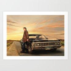 Dean and Impala Art Print