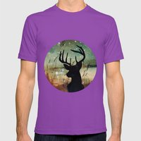 Deer 2 Mens Fitted Tee Ultraviolet SMALL
