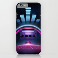 iPhone & iPod Case featuring Boombox: Echos of Tomorrow by JoPruDuction Art