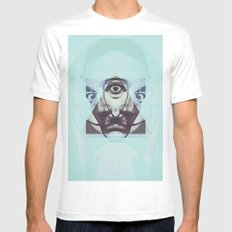 salvador illuminat White Mens Fitted Tee SMALL