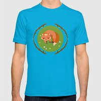 sleeping mr fox Mens Fitted Tee Teal SMALL