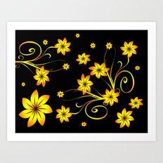 Flower Fantasy 3 Art Print