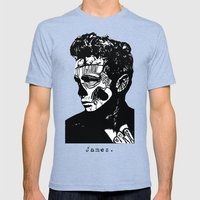 James Dean. Rebel: Zombie. Mens Fitted Tee Tri-Blue SMALL