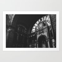 Antwerp Central Station Art Print