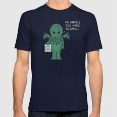 Monster Issues - Cthulhu Mens Fitted Tee Navy SMALL