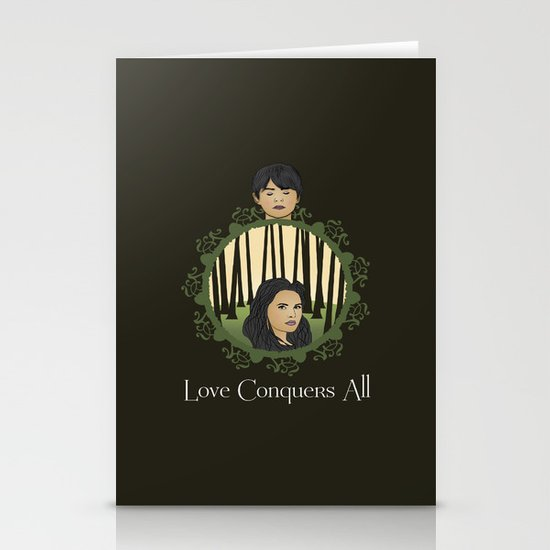 Once Upon A Time - Two Halves, One Whole Stationery Card