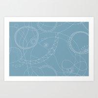 Cosmic Chatter Art Print