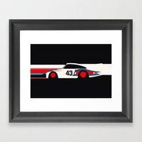 Moby Dick - Vintage Porsche 935/70 Le Mans Race Car Framed Art Print