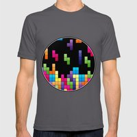 Tetris Troubles. Mens Fitted Tee Asphalt SMALL