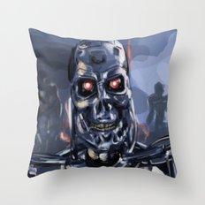 Speed Portraits: Terminator T-800 Throw Pillow