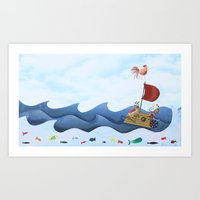 Sea Race Art Print