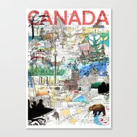 Canada (portrait Version… Canvas Print